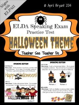 ELDA Speaking Practice with Halloween Theme