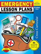 Emergency Lesson Plans: Grades 3,4 (Enhanced eBook)