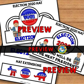 ELECTION 2016 ACTIVITIES: ELECTION CROWNS OR HAT TEMPLATES: ELECTION CRAFTS