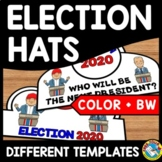 2020 PRESIDENTIAL ELECTION 2020 DAY ACTIVITY CRAFT CROWNS HAT TEMPLATES