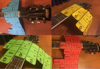 ELECTRIC GUITAR - CHORD SLIDERS (LIFE-SIZE) - LEARN CHORDS FAST