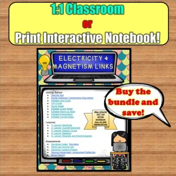 ELECTRICITY AND MAGNETS PHYSICAL SCIENCE NOTEBOOK PAGES