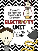 ELECTRICITY Unit Interactive Book, Worksheets, Experiments, Study Guide, & Test