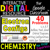 ELECTRON CONFIGURATIONS~ Digital Resource for Google Classroom~ CHEMISTRY