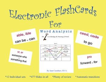 ELECTRONIC FLASHCARDS-Word Analysis: The Key to Unlocking