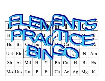 ELEMENT PRACTICE BINGO CARDS