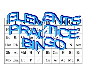 ELEMENT PRACTICE BINGO CARDS