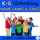 Elementary Back to School Songs, Name Games, and Chants wi