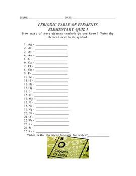 ELEMENTARY ELEMENTS I