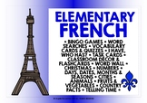 ELEMENTARY FRENCH GAMES, ACTIVITIES, TASK CARDS & WORD WALLS