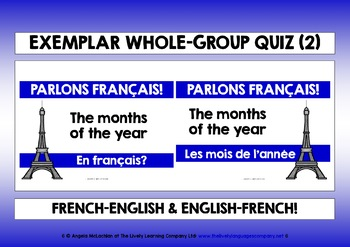 FRENCH VOCABULARY QUIZ 2