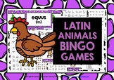 LATIN ANIMALS BINGO