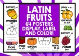 LATIN FRUITS LABEL AND COLOR POSTERS