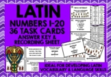 LATIN NUMBERS 1-20 TASK CARDS