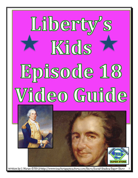 ELEMENTARY- Liberty's Kids Video Guide #18 - American Crisis
