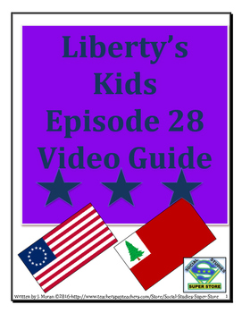 ELEMENTARY- Liberty's Kids Video Guide #28 - Not Yet Begun