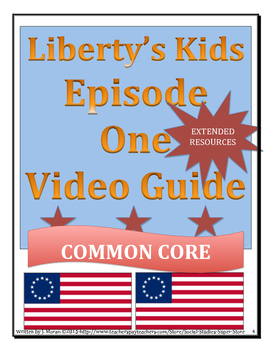 ELEMENTARY- Liberty's Kids Video Guide BUNDLE PACK episodes 1-10