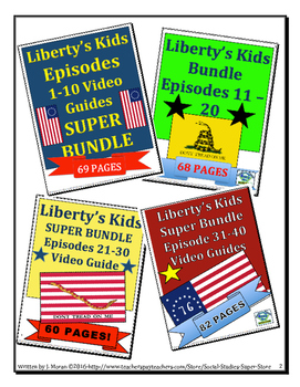 ELEMENTARY- Liberty's Kids Video Guides-MEGA BUNDLE entire series