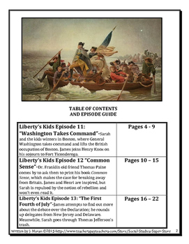 ELEMENTARY- Liberty's Kids Video Guides BUNDLE #11- #20