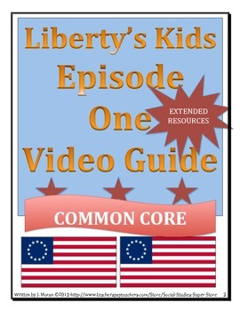ELEMENTARY- Liberty's Kids Video Guide BUNDLE PACK#1- #5