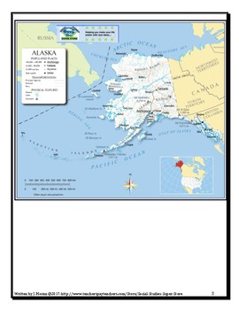 Political Map Of Alaska.Elementary Physical Political Map Of Alaska By Social Studies