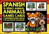 ELEMENTARY SPANISH ANIMALS GAMES CARDS