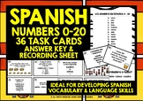 SPANISH NUMBERS 0-20 TASK CARDS