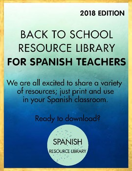 ELEMENTARY Spanish Back to School Resource Library 2018