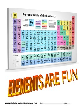 ELEMENTS ARE FUN names and symbols practice fun