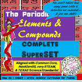 ELEMENTS & COMPOUNDS 2wk SuperSET-5Es+way more PLANs-LABs-SORTs-GAMEs-ChBoard++