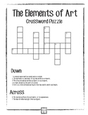 ELEMENTS OF ART CROSSWORD PUZZLE