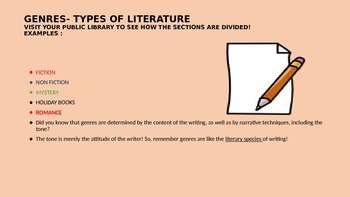 ELEMENTS OF LITERATURE POWER POINT