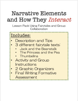 ELEMENTS OF NARRATIVE - HOW THEY INTERACT // 5-9th Grades, Middle Level Grades