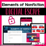ELEMENTS OF NONFICTION DIGITAL ESCAPE ROOM | DISTANCE LEARNING