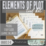 ELEMENTS OF PLOT TOOL KIT | Grades 3-5 | Study Guide, Posters, Graphic Organizer