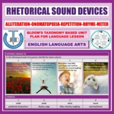 SOUND DEVICES - ELEMENTS OF POETRY: LESSON & RESOURCES