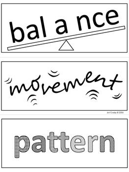 ELEMENTS of ART - Visual, Mnemonic Word Wall