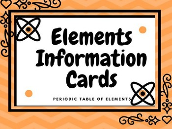 Elements on the periodic table by k 8 science teachers pay teachers elements on the periodic table urtaz Choice Image