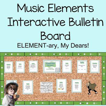 ELEMENTary, My Dears! Music Elements Bulletin Board Kid