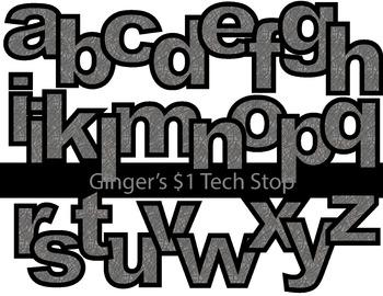ELEPHANT SKIN! * Bulletin Board Letters *  Lower Case * Alphabet