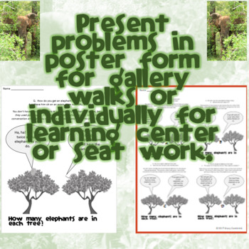 ELEPHANTS IN TREES:  Math Puzzles to Develop Algebraic Thinking