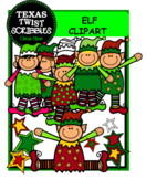 ELF CLIPART {Texas Twist Scribbles}