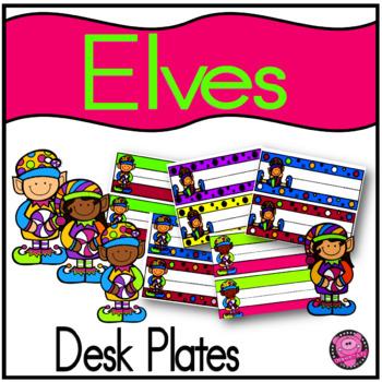 Elf Theme Name Plates for Christmas and Winter