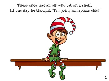 ELF NOT ON A SHELF Holiday Christmas Early Reader
