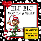 ELF NOT ON A SHELF Holiday Christmas Early Reader PRE-K SPEECH THERAPY