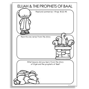 Free Elijah Burning Altar Coloring Pages, Download Free Clip Art ... | 350x350