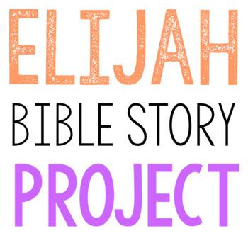 ELIJAH: Bible Story Brochure Project Activity, Old Testament