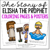 ELISHA THE PROPHET Bible Story Coloring Pages and Posters, Craft Activity
