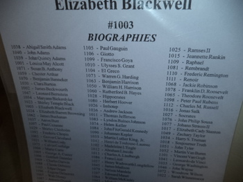 ELIZABETH BLACKWELL  #1003