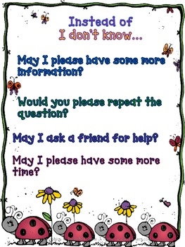 ELL Asking for Help Poster